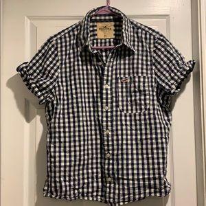 Hollister XL checkered blouse short sleeve